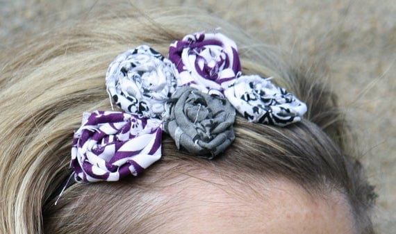 Plum Tickled Headband- paisleyorpolkadots