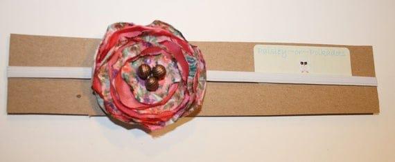 Rose Garden Headband- paisleyorpolkadots