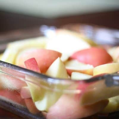 Healthy Baked Apple {Recipe}