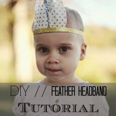 DIY // Feather Headband