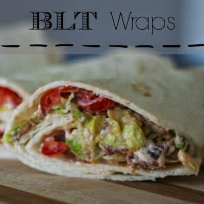 Recipe // BLT Wraps