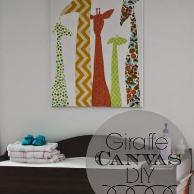 DIY | Giraffe Canvas