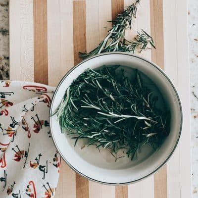 Homemaking | Rosemary Christmas DIY