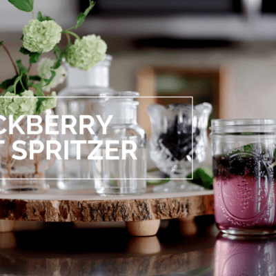 blackberry mint spritzer