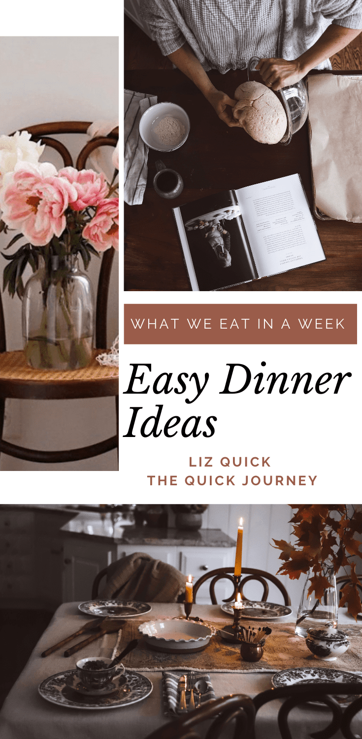 easy dinner ideas for a week of meals.  healthy and delicious options for a family