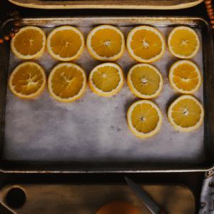 easy diy dried orange garland