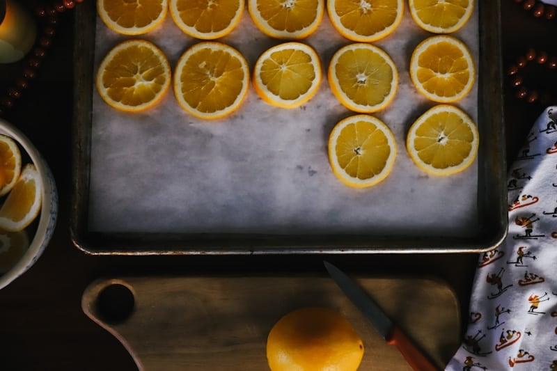 dried orange slice tutorial DIY step by step