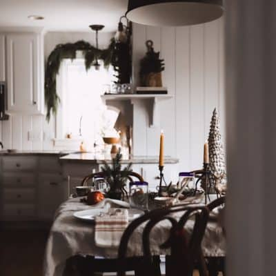 Christmas Table Setting | Thrifty Tablescape Ideas