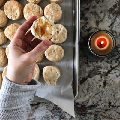 flaky homemade biscuit without baking powder