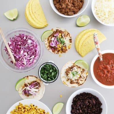 taco tuesday taco bar use up extra taco meat