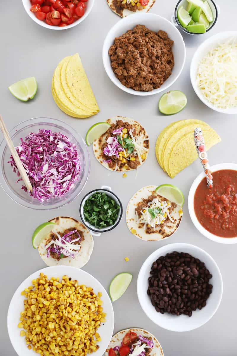 what to serve at a taco bar for a gathering or taco tuesday