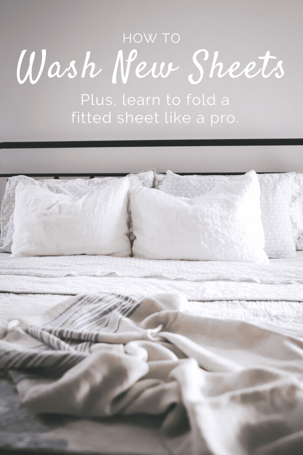 how to wash new sheets and fold a fitted sheet