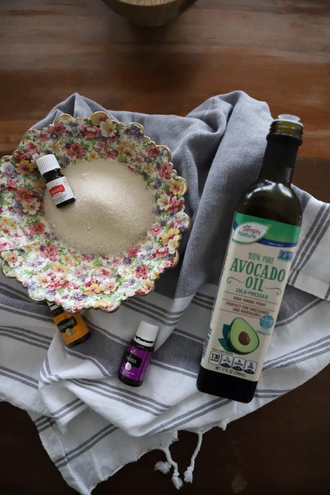 sugar scrub using essential oils