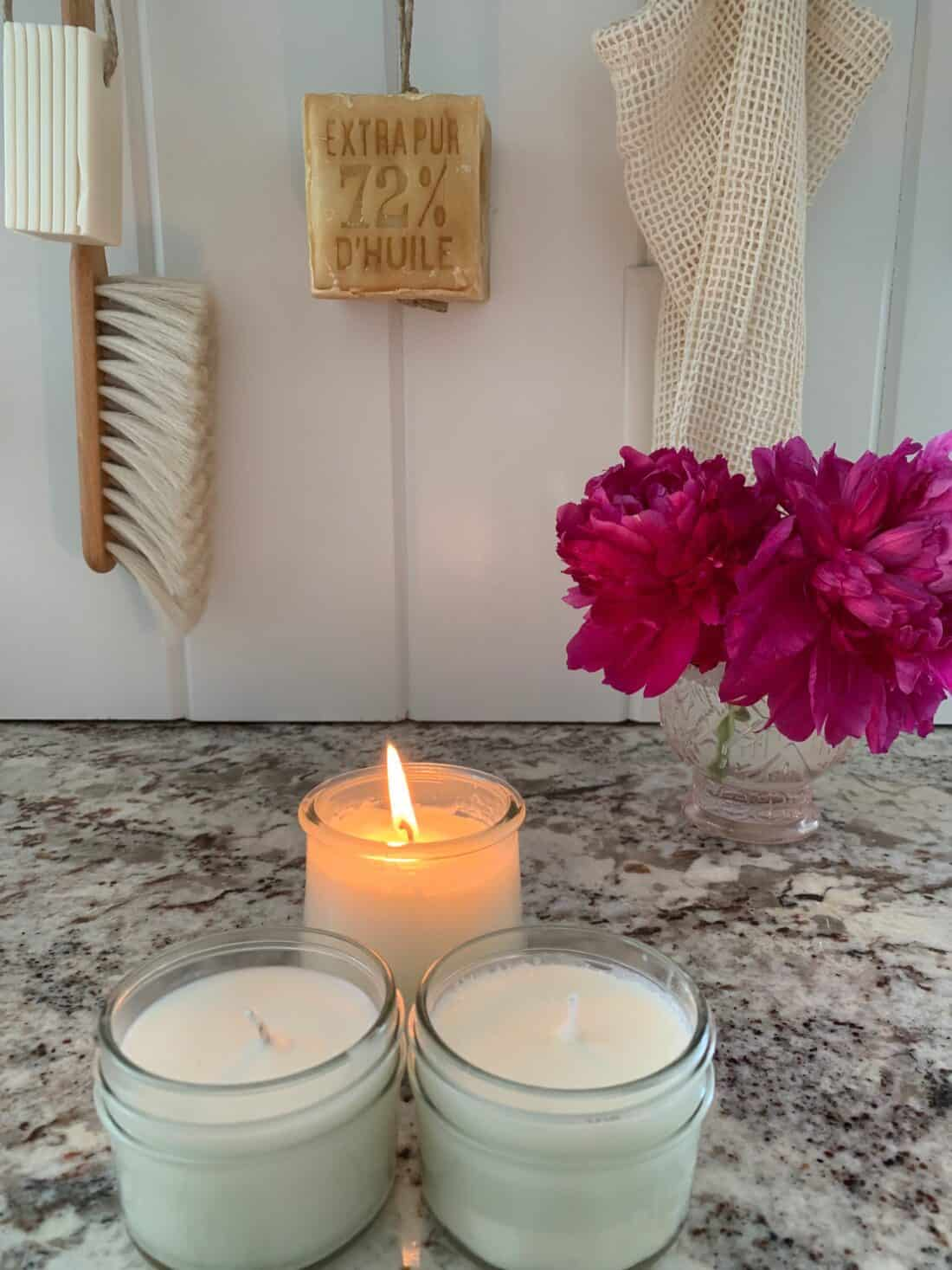 steps for making essential oil candles at home
