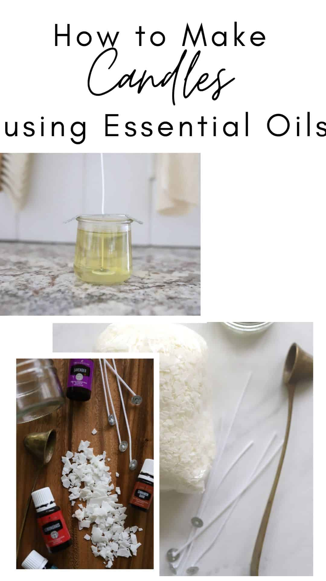 how to make essential oil candles DIY using essential oils