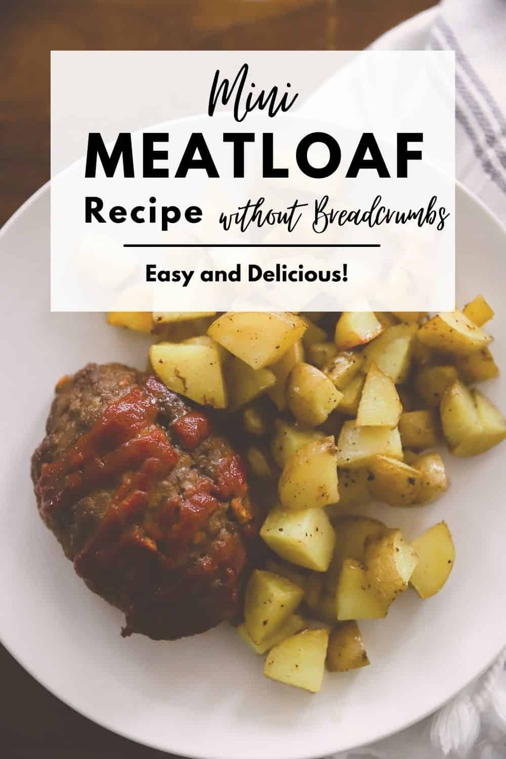 mini meatloaf with fried potatoes