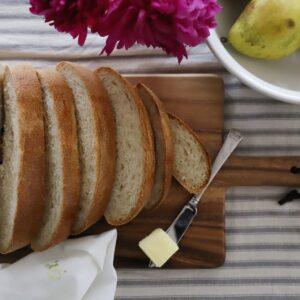 sourdough french bread sliced