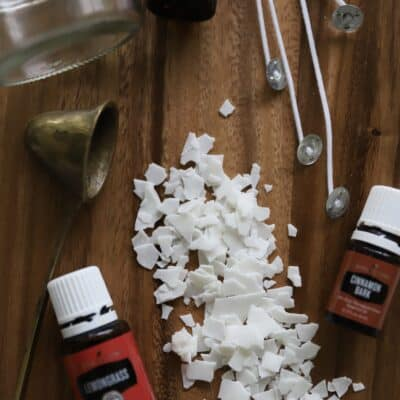 supplies for DIY soy candles