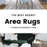 area rug in a living room, entry way, and bedroom