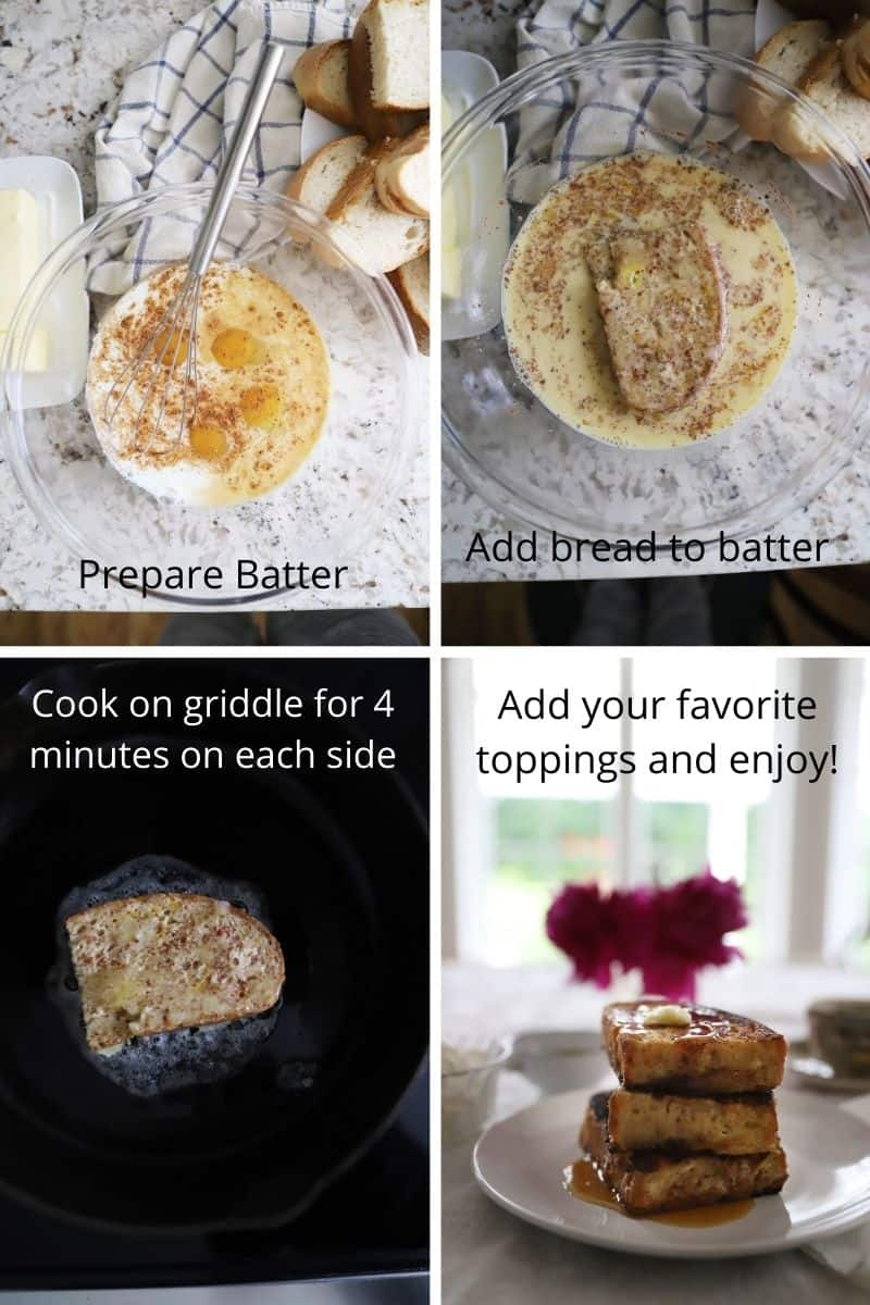 steps for making french toast