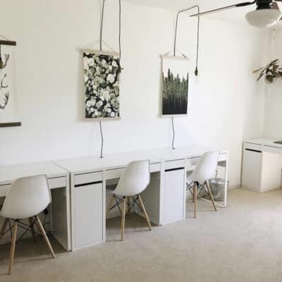 creating a homeschool room in a bedroom