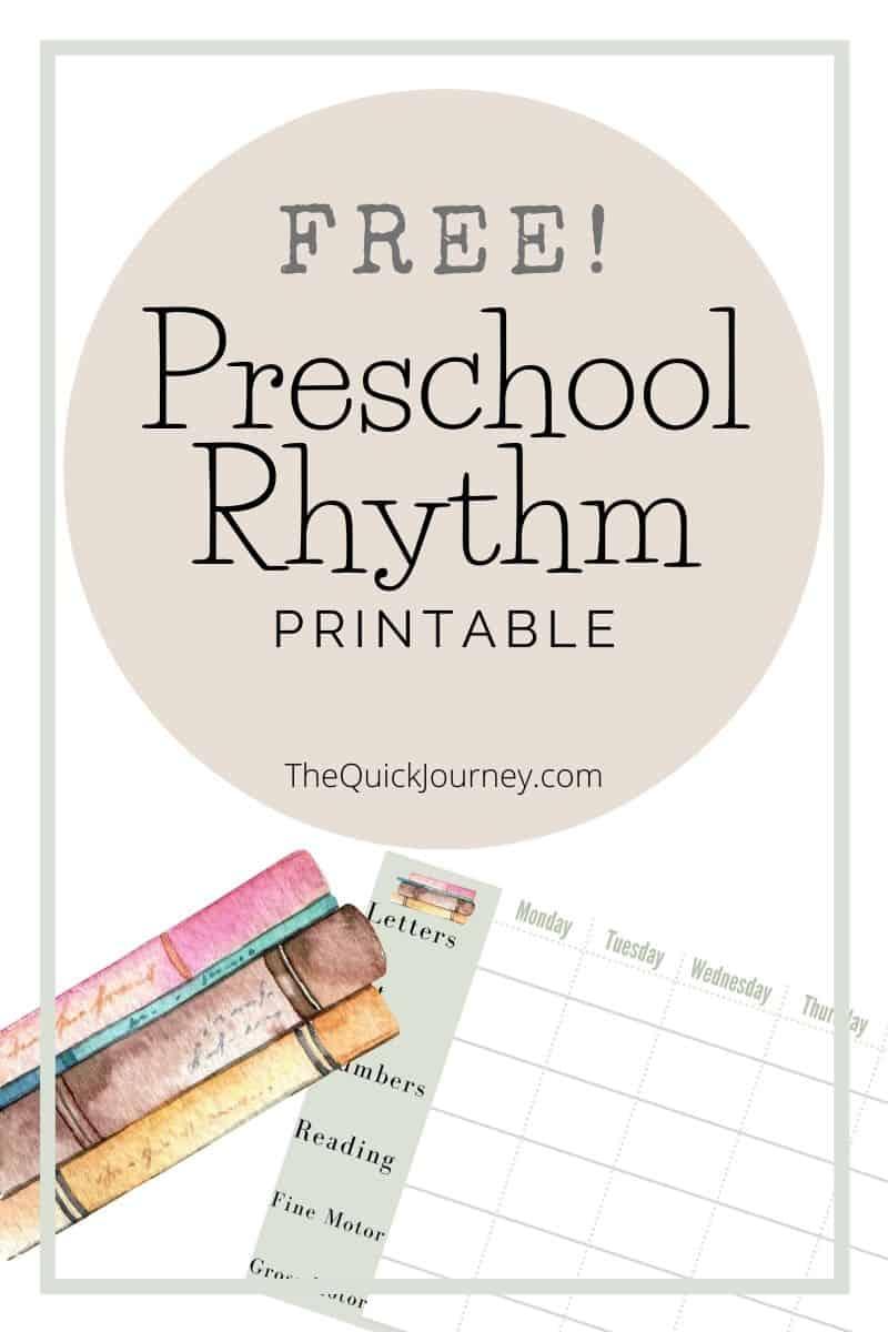 a graphic for a free preschool homeschool printable