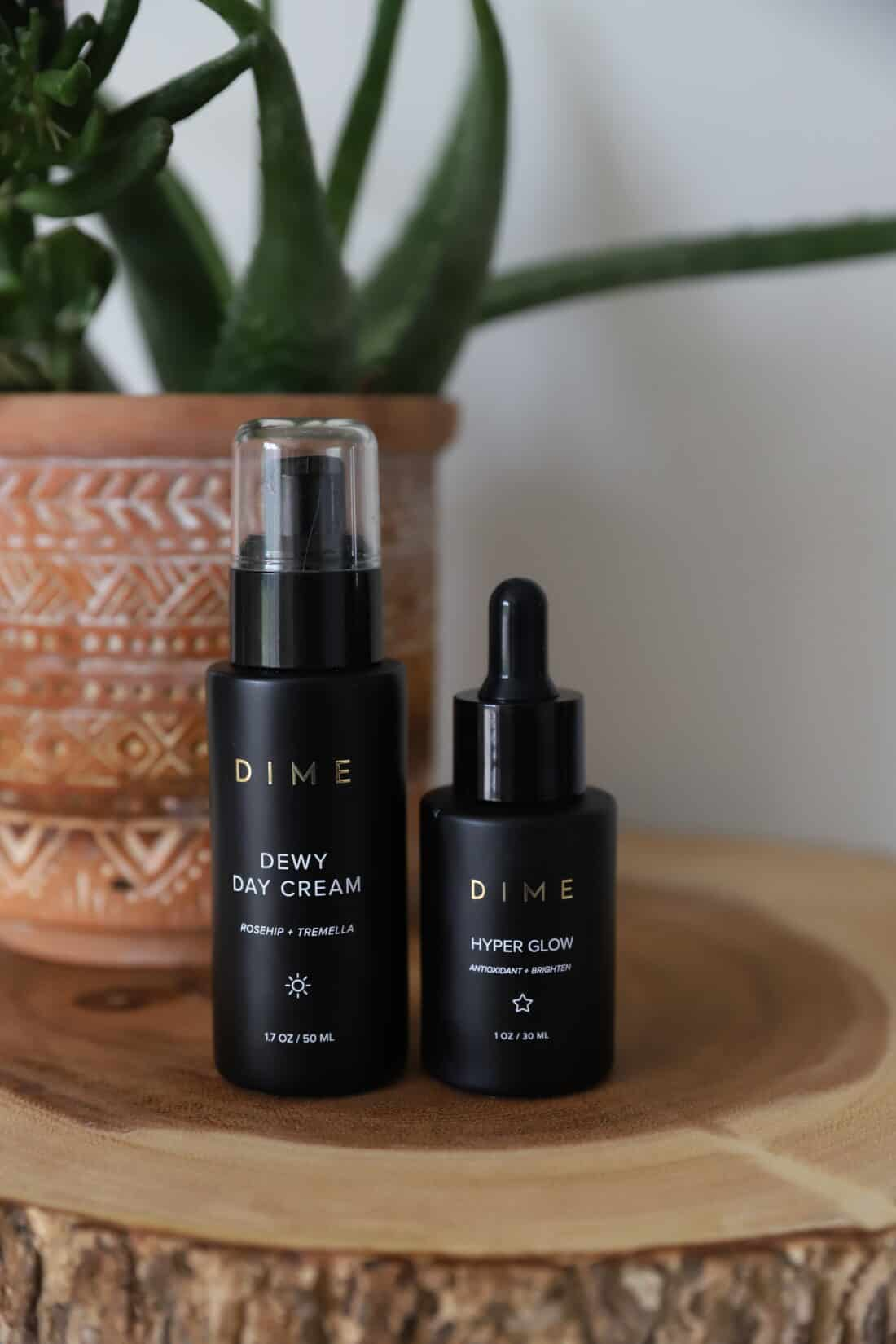dime beauty morning skin care routine products
