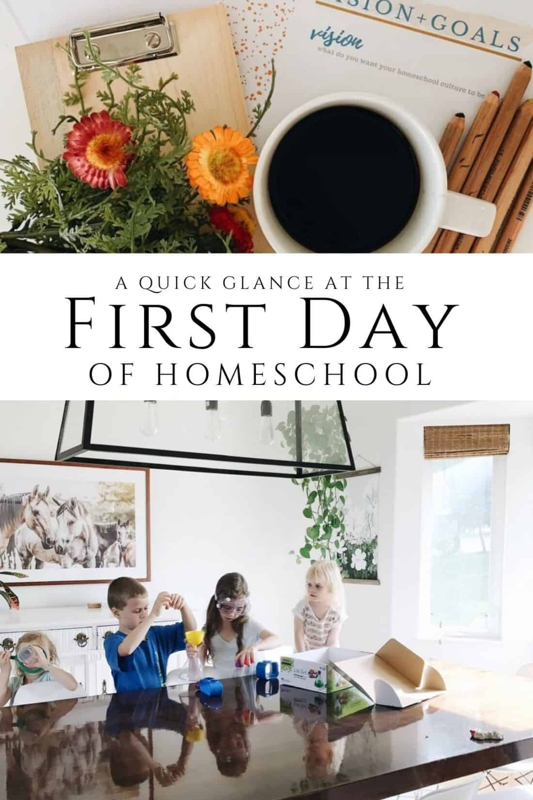 tips for the first day of homeschool