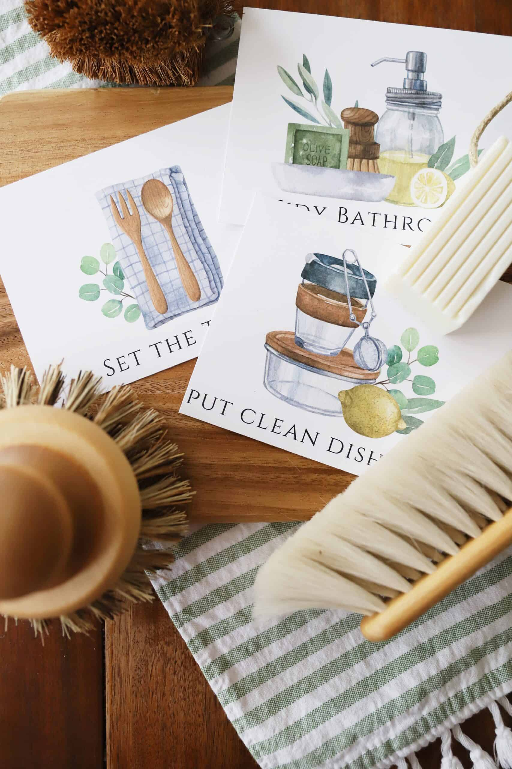 Chore Chart and Chore Cards for Kids