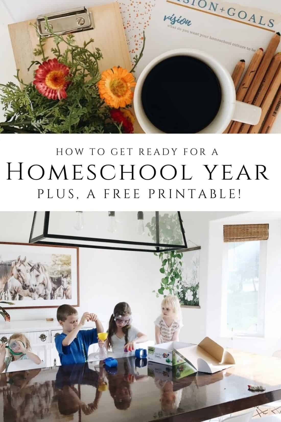 Get Ready for a New Homeschool Year printables