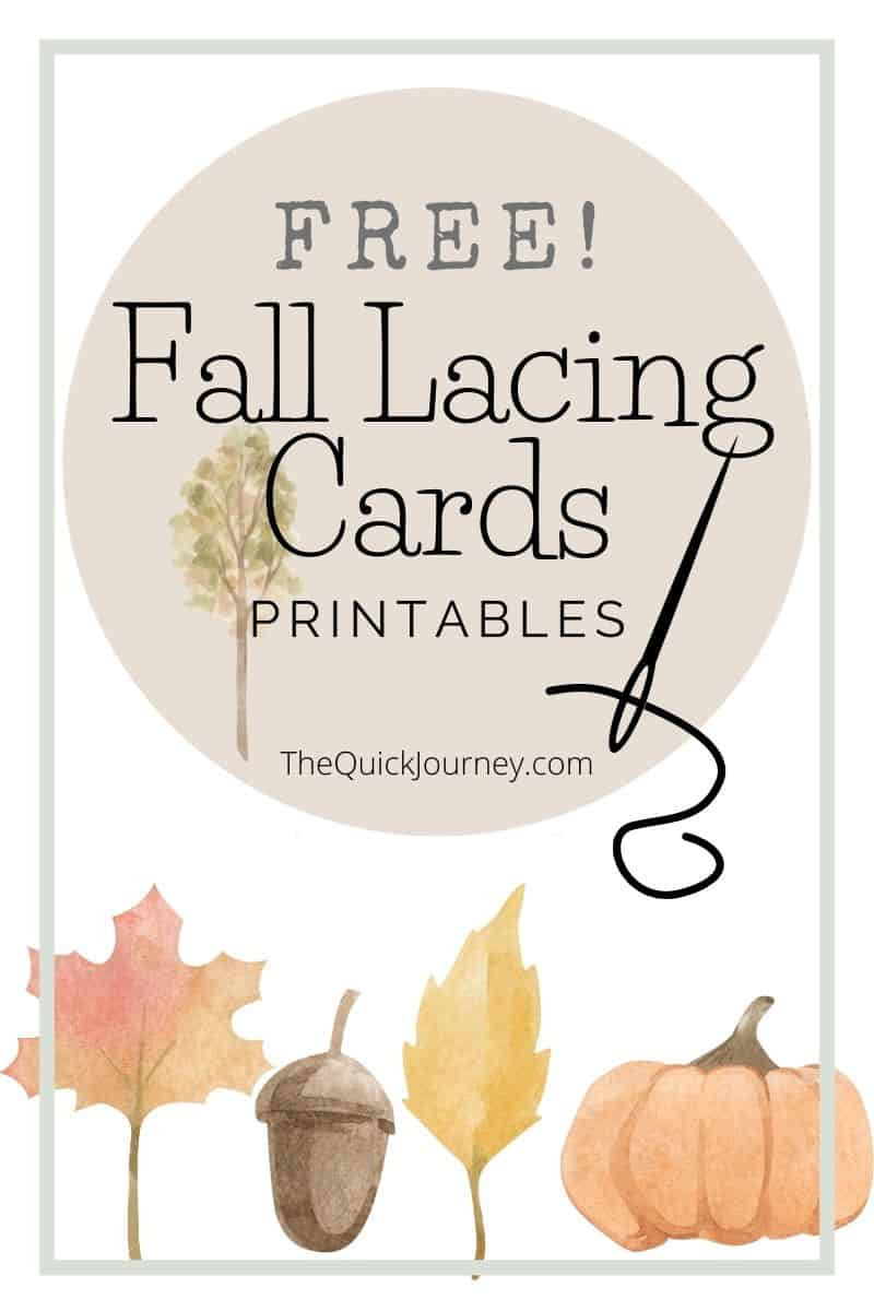 free lacing cards for kids