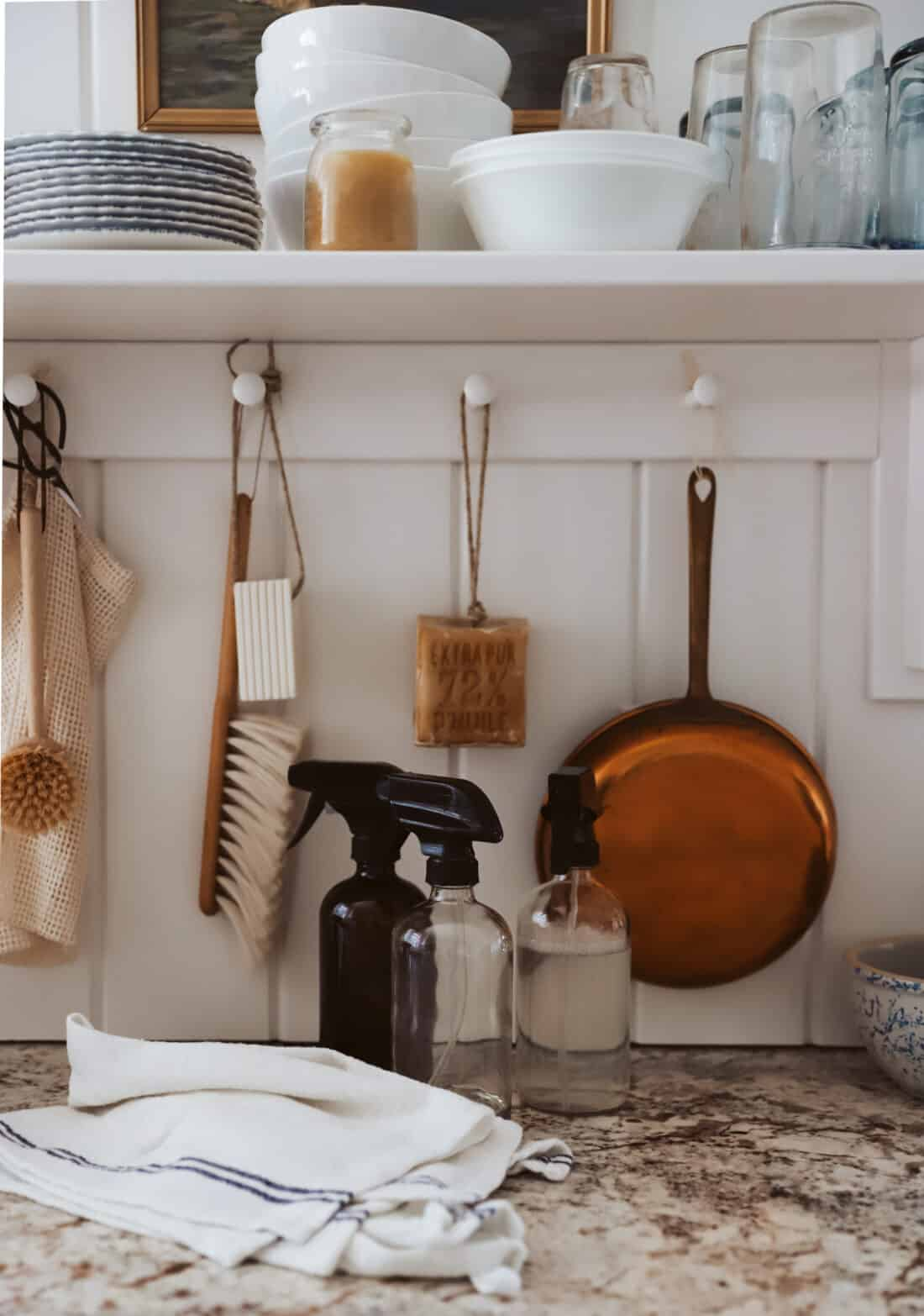 simple cleaning supplies for a minimalist home