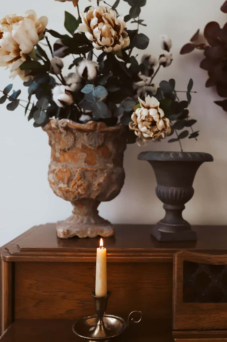 faux flowers for fall
