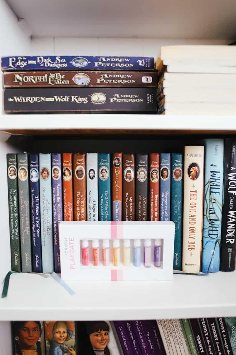 bookcase full of children's books