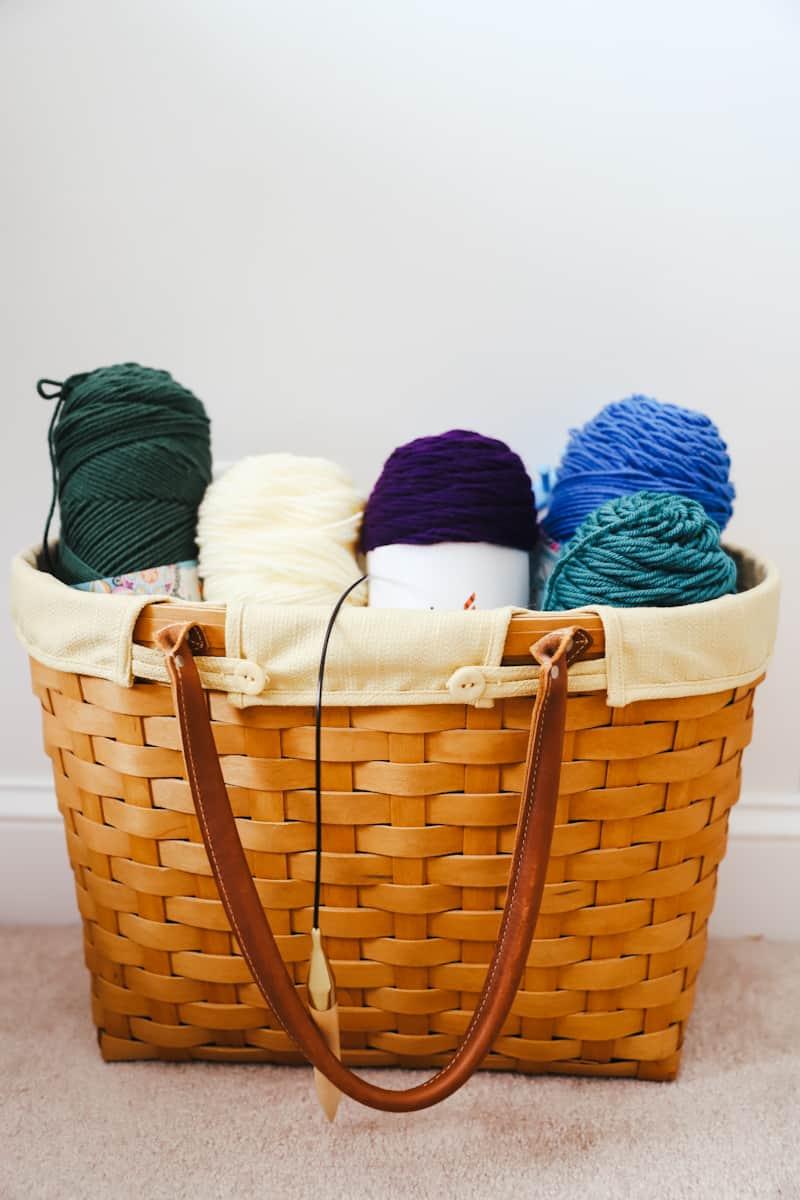 yarn in a basket